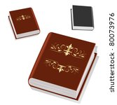 book with gold ornament on the... | Shutterstock .eps vector #80073976