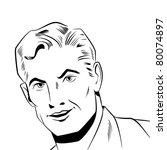 pop art man | Shutterstock . vector #80074897