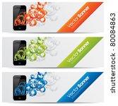 vector website headers  smart... | Shutterstock .eps vector #80084863