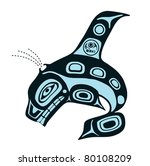 mythological image whale | Shutterstock . vector #80108209