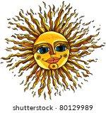 sun. vector illustration.   Shutterstock .eps vector #80129989