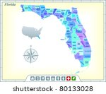florida state map with... | Shutterstock .eps vector #80133028