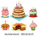 illustration of isolated set of ... | Shutterstock .eps vector #80161615