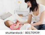attractive brunette female... | Shutterstock . vector #80170939