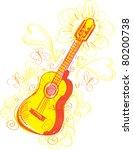 abstract guitar sketchy a fun...   Shutterstock .eps vector #80200738