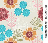 floral seamless pattern | Shutterstock .eps vector #80229820
