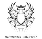 heraldry elements with wings... | Shutterstock .eps vector #80264077