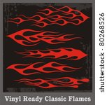 vinyl ready red flames. great...   Shutterstock .eps vector #80268526