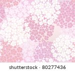 Seamless Pink Abstract Floral...