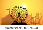 vector silhouettes of a city... | Shutterstock .eps vector #80278363