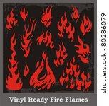 vinyl ready red fire flames.... | Shutterstock .eps vector #80286079
