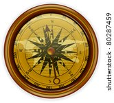 vector compass isolated on white | Shutterstock .eps vector #80287459