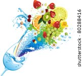 water and fruits. all elements... | Shutterstock .eps vector #80288416