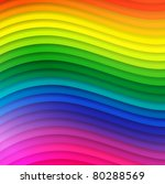 abstract multicolored wavy lines background - stock vector