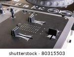 Dj Mixer And Cd Player  Closeup ...