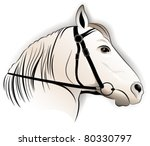 Horse, tattoo - stock vector
