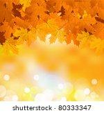 Vector Autumn Leaves On A...
