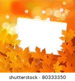 vector autumn background with...   Shutterstock .eps vector #80333350