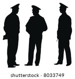 Three Officers Of Policemen On...