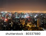 downtown mexico city skyline at ... | Shutterstock . vector #80337880