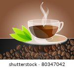 vector elegant coffee themed... | Shutterstock .eps vector #80347042