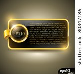 Golden Luxury Label  Vector...