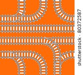 Seamless Background Of Railway...