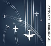 transport and civil airplanes ... | Shutterstock .eps vector #80373190