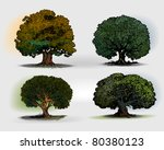 Trees - stock vector