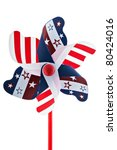 a red  white and blue pinwheel | Shutterstock . vector #80424016