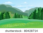green meadow | Shutterstock .eps vector #80428714