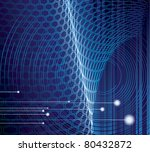 old styled futuristic circles | Shutterstock .eps vector #80432872