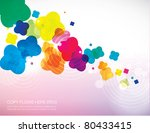 abstract background template... | Shutterstock .eps vector #80433415