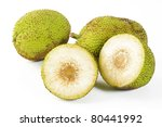 Breadfruit On White Background