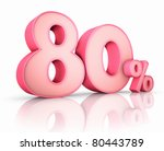 Pink Eighty Percent  Isolated...