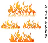 fire flames. collage. | Shutterstock .eps vector #80468812