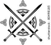 fantasy swords. fifth variant.... | Shutterstock .eps vector #80498185