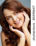 portrait of charming girl... | Shutterstock . vector #80498647