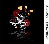 colorful floral set | Shutterstock .eps vector #80501710