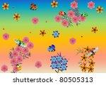rainbow illustration with... | Shutterstock .eps vector #80505313