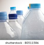 water bottles to recycle on a... | Shutterstock . vector #80511586