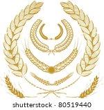 wheat laurels | Shutterstock .eps vector #80519440