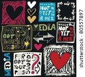 hand drawn web design elements | Shutterstock .eps vector #80557897