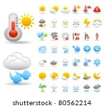 weather icons | Shutterstock .eps vector #80562214