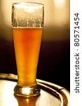 German wheat beer in afternoon sun