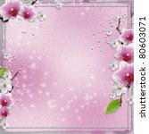 paper background  with pink... | Shutterstock . vector #80603071