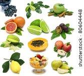 fruit sampler of various fresh... | Shutterstock . vector #80604448