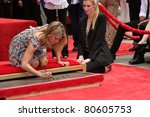 LOS ANGELES - JUL 7:  Jennifer Aniston at the Jennifer Aniston Handprint & Footprint Ceremony at Grauman's Chinese on July 7, 2011 in Los Angeles, CA - stock photo