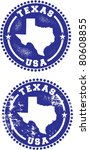 Texas USA Stamps - stock vector