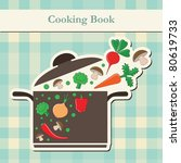 Cooking Book Cover. Vector...